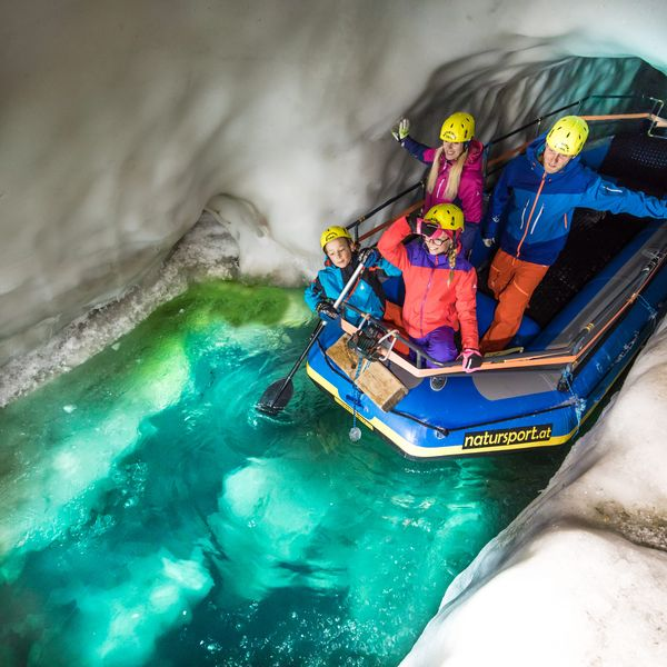 Take an unforgettable tour through the eternal ice of the glacier ...